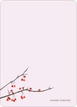 Winter Berries Note Cards - Blush