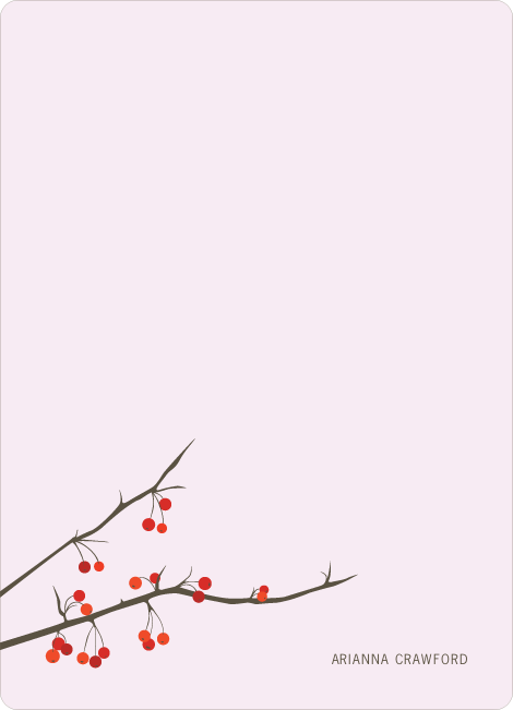 Stationery: 'Winter Berries' cards. - Blush