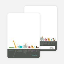 Stationery: 'Zoo Parade' cards. - Slate Grey