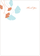 Leaving You Breathless : Thank You Cards - Aqua