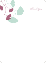 Leaving You Breathless : Thank You Cards - Mint Green