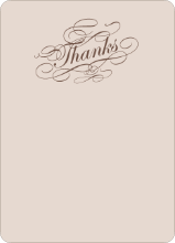 Elegant, Yet Modern: Thank You Cards - Cocoa