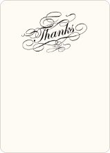 Elegant, Yet Modern: Thank You Cards - Charcoal