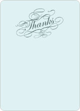Elegant, Yet Modern: Thank You Cards - Slate Blue