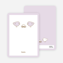 Nesting Birds: Thank You Cards - Pale Lavender