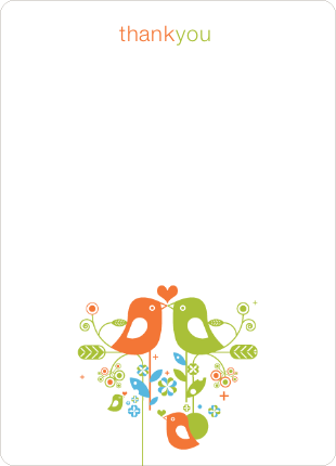 Thank You Card for True Love Baby Shower Invitation - Carrot
