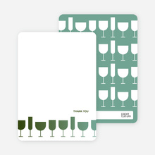 A Wine Toast: Thank You Cards - Dark Sage