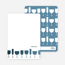 A Wine Toast: Thank You Cards - Cadet Blue