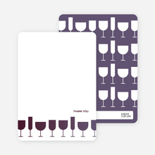 A Wine Toast: Thank You Cards - Plum