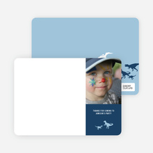 Ultimate Dinosaur Photo Stationery - Baby Blue