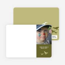 Dinosaur Photo Stationery - Khaki