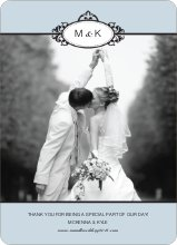 Wedding Thank You Cards (Note) - Glacier