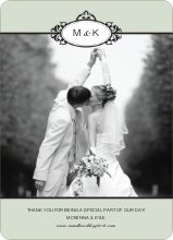 Wedding Photo Thank You Cards – Classic - Celadon