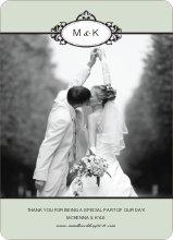 Wedding Photo Thank You Cards – Classic - Celadon