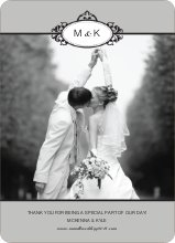 Wedding Thank You Cards (Note) - Silver