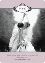 Wedding Thank You Cards (Note) - Mauve