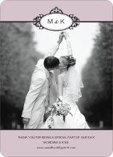Wedding Photo Thank You Cards – Classic - Mauve