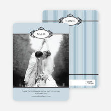 Wedding Photo Thank You Cards – Classic - Glacier