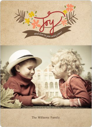 Branches of Joy Holiday Cards - Red