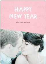 Geometric New Year Cards - Pink
