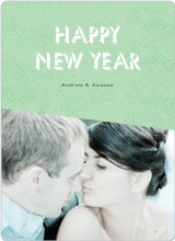 Geometric New Year Cards - Green