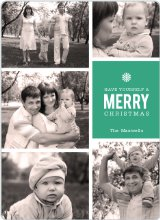 Merry Photos Holiday Cards - Green