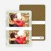 New Year's Pattern Photo Cards - Brown