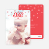 Snowflake Joy Holiday Cards - Red