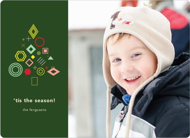 Tree Gems Holiday Cards - Green