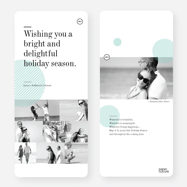 Holiday Cards: Bright & Delightful - Blue