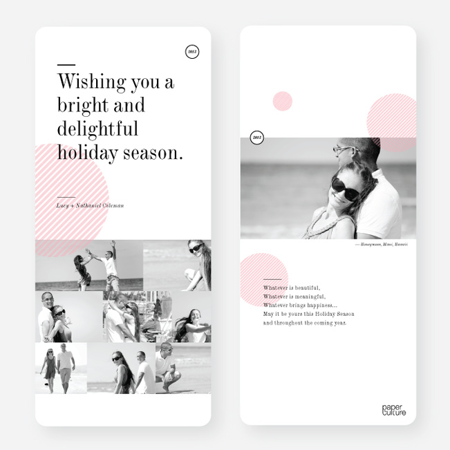 Bright and Delightful Holiday Cards - Pink