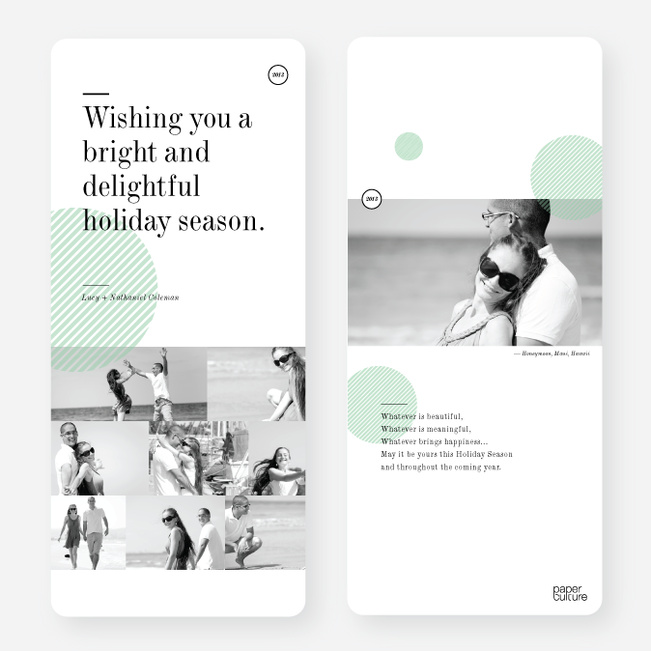 Holiday Cards: Bright & Delightful - Green