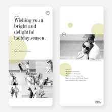 Bright and Delightful Holiday Cards - Brown