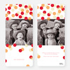 Dots Galore Holiday Cards - Orange