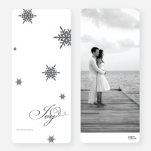 Holiday Cards: Falling Snowflakes - Gray