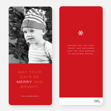May Your Days be Merry and Bright Christmas Cards - Red