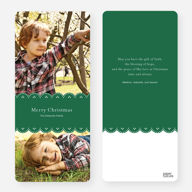 Merry Christmas Cards - Green