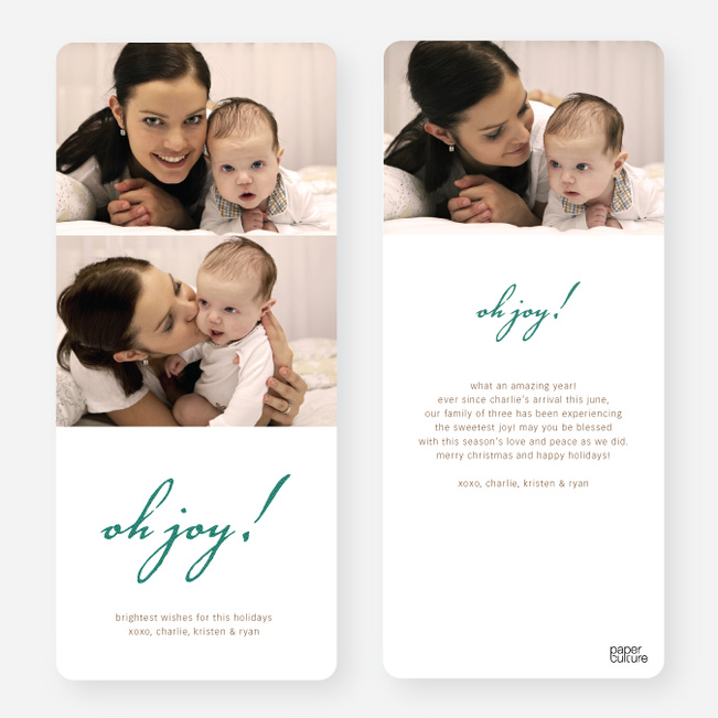 Oh Joy Holiday Photo Cards - Green
