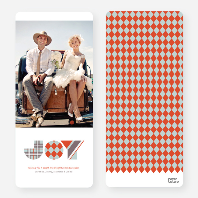 Holiday Cards: Patterns of Joy - Orange