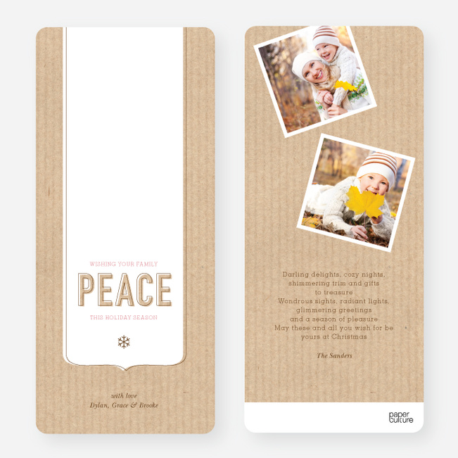 Peace Flourish Holiday Cards - Red