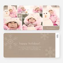 Unique Snowflakes Six Photo Holiday Cards - Brown