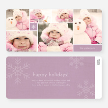 Unique Multi Photo Christmas Cards - Purple