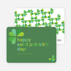4 Leaf Clover St Patrick's Day Card - Green