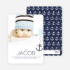 Anchors Away Birth Announcements - Blue