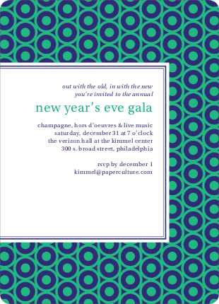 Bold, Patterned Party Invitations - Green