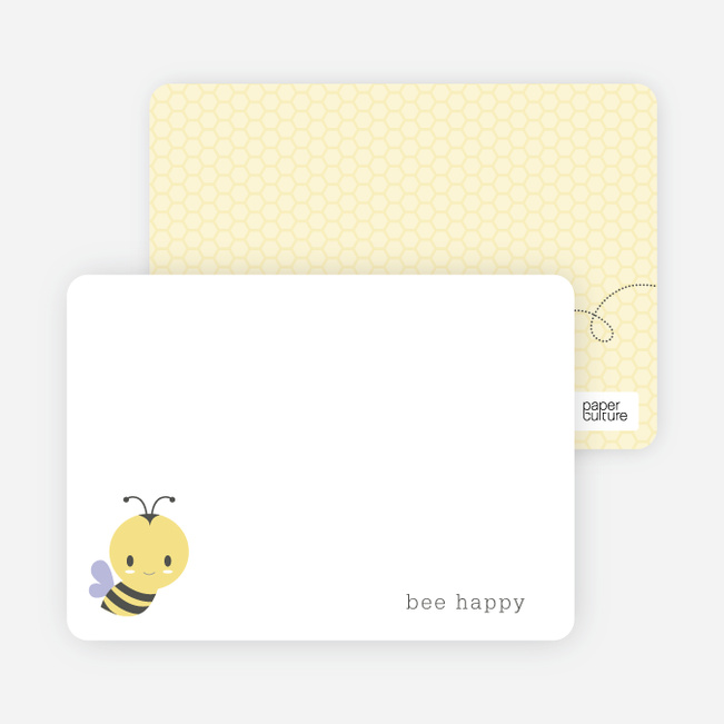 Buzz worthy Bee Hive Stationery - Purple