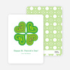 Four Leaf Clover St. Patrick's Day Maze Card - Green