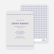 Got Dot Wedding Shower Invitations - Purple
