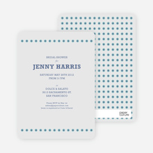 Got Dot Wedding Shower Invitations - Blue