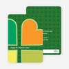 Heart Shaped Clovers Saint Patrick's Day Cards - Green